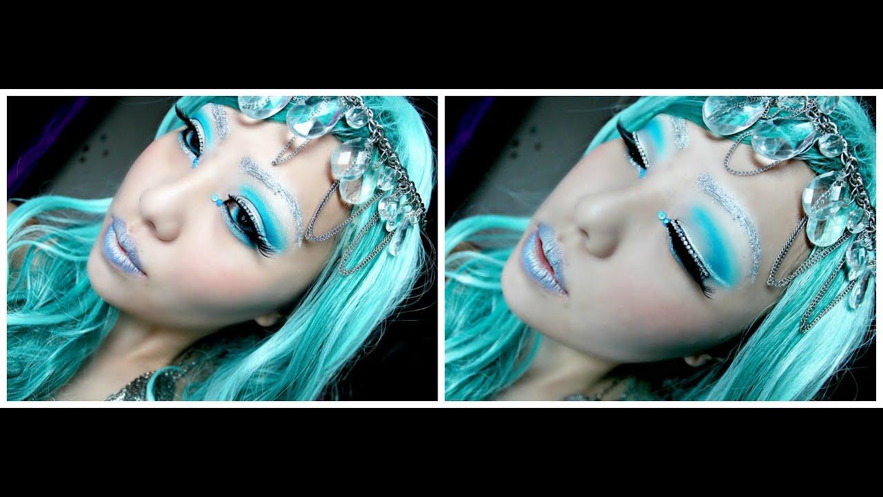 Halloween Tutorial- Ice Princess Makeup - YouTube