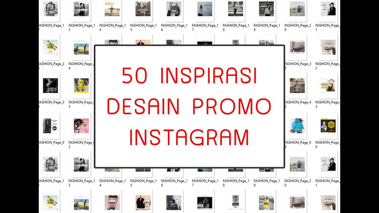 12 INSPIRASI Desain Promo Instagram untuk Online Shop - YouTube