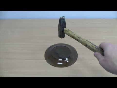 Тарелка Luminarc (Люминарк) против молотка. Бью посуду.