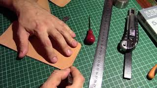 Изготовление кошелька из натуральной кожи.