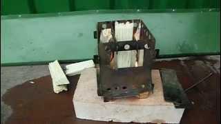 Туристическая складная печка Щепочница своими руками Tourist folding stove