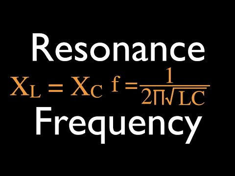RLC Circuits (14 of 14); Resonance for Series RLC Circuits
