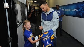 Curry Meets 9-Year-Old Fan