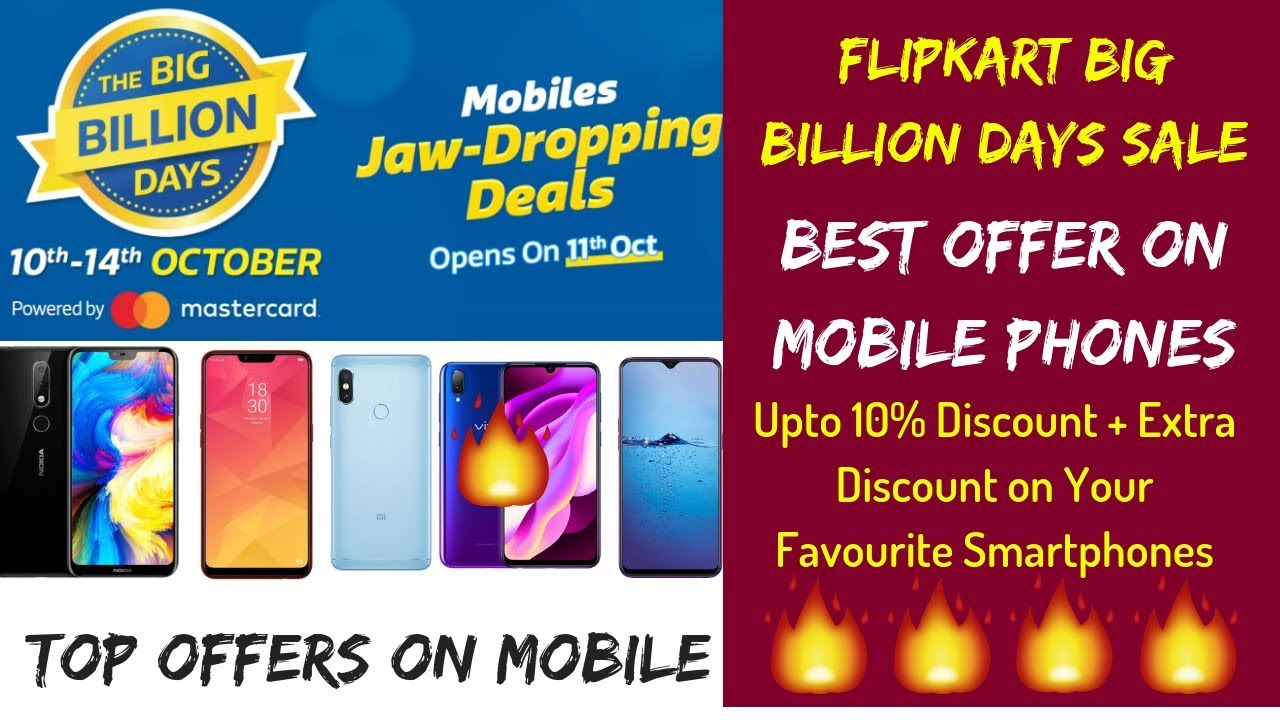 382fae7f7b9 Flipkart BBD Offer 10% Discount + Extra Upto Rs 5000 Off on Mobile Phones