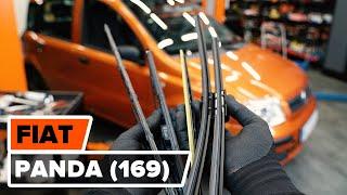 Hvordan udskiftes vindusviskere foran til FIAT PANDA 2 (169) [UNDERVISNINGSLEKTIONER AUTODOC]