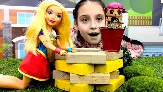 Кукла ЛОЛ и Харли Квин - Как стать супергероем