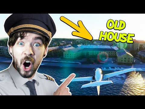 Flying to my old Irish house in Flight Simulator