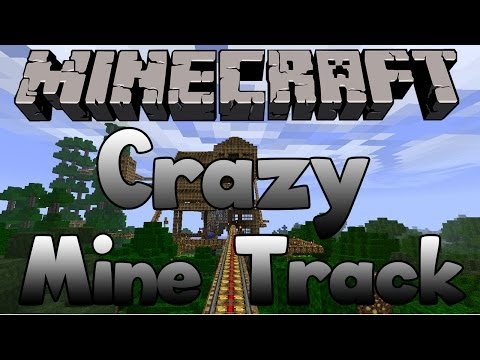 Minecraft PS3 Edition - Minecart Track Around The WHOLE Map!
