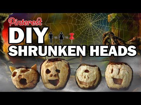 🧟♂️DIY Shrunken Heads - Man Vs Corinne Vs Pin 666