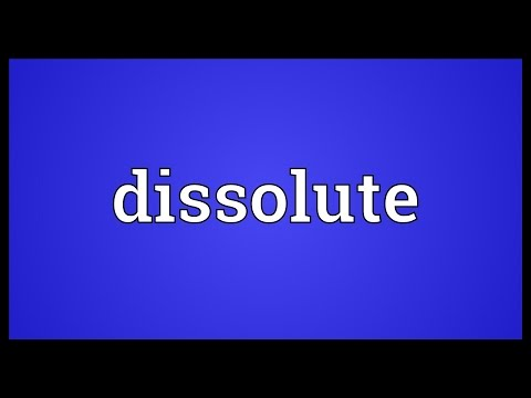 Dissolute Meaning