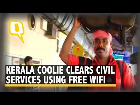 #GoodNews: Kerala Coolie Clears Civil Service Exam Using Free WiFi