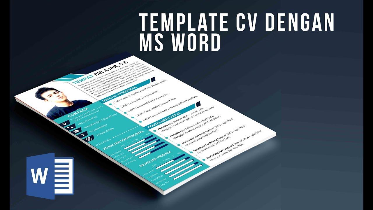 contoh template cv curriculum vitee menarik menggunakan ms word mudah di edit kode 01