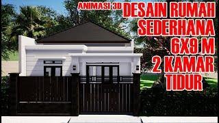 RUMAH MINIMALIS 6X9M DENGAN  2 KAMAR TIDUR