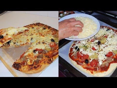 {-recettes-ramadan-}-:-pizza-à-la-viande-hachée-/-بيتزا-بالكفتة