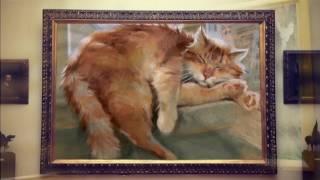 Ожившие картины кошки