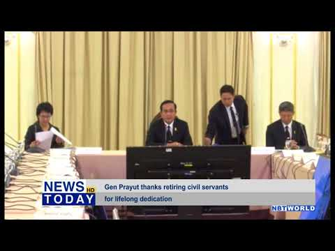 Gen Prayut thanks retiring civil servants for lifelong dedication
