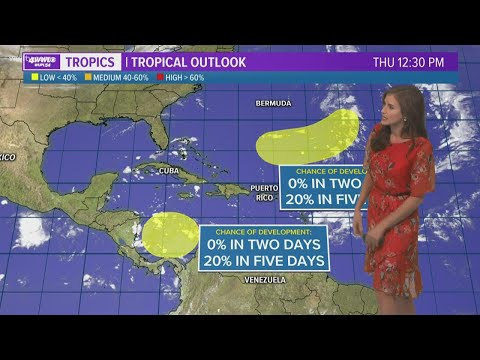 Thursday evening tropical update: Watching a couple of spots