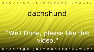 How To Pronounce 'dachshund' With Zira.mp4