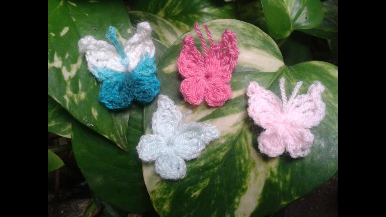 como tejer una mariposa a crochet facil principiantes