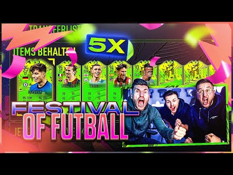 OMG!! 5x FESTIVAL Of FUTBALL GEZOGEN (Mehr als BROSKI )😱🔥 FIFA 21 Best Of EM 2020 Pack Opening!!