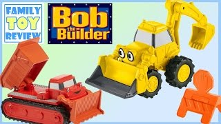 Toy Trucks - Bob The Builder Toys - CONSTRUCTION Trucks - Scoop Backhoe Loader & Muck Dump Truck