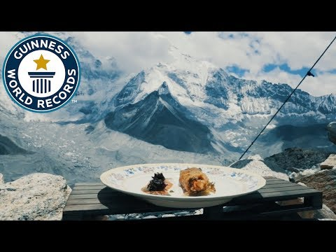 Highest altitude pop-up restaurant - Guinness World Records