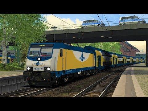 """BR146 """"Metronom Nord"""" G-20 Gipfel Gipfeltreffen Hamburg Fahrzeit 37 Teil 6 Train Simulator 2017"""