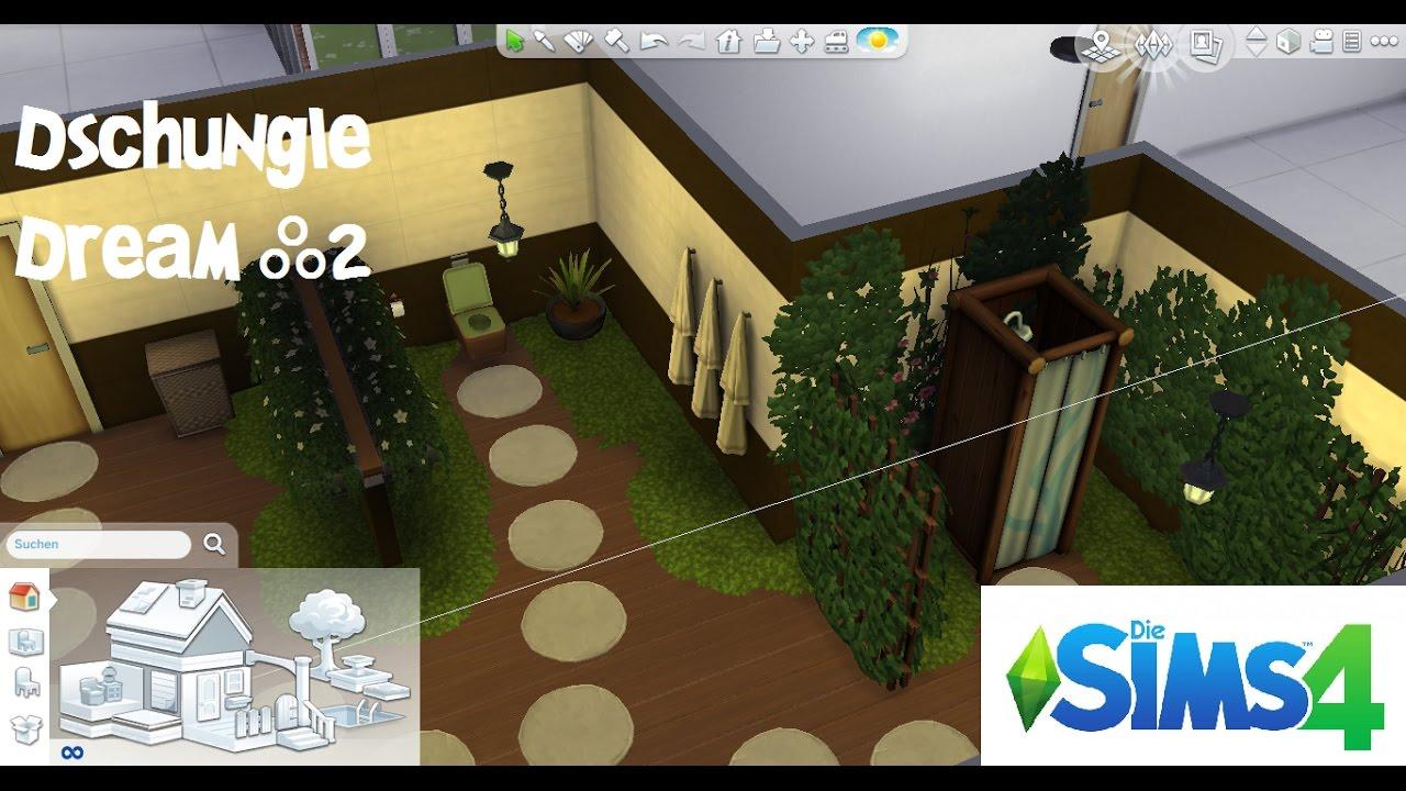 Die Sims 4 - Let´s Build Dschungle Dream #2   Badezimmer - YouTube