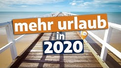 Brückentage-Planer 2020: So verdoppelst du den Urlaub