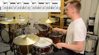 Spin Doctors - Two Princes - Aaron Comess (Drum lesson) by Kai Jokiaho
