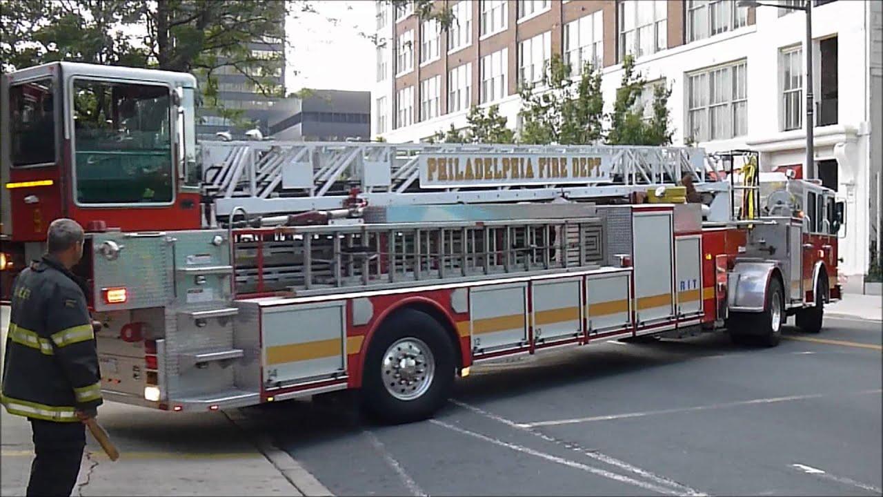 Philadelphia Fire Dept Ladder 9 Returning To Quarters 7