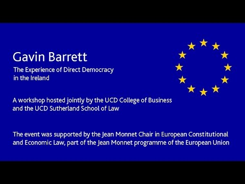 Gavin Barrett - The Experience of Direct Democracy in the Ir