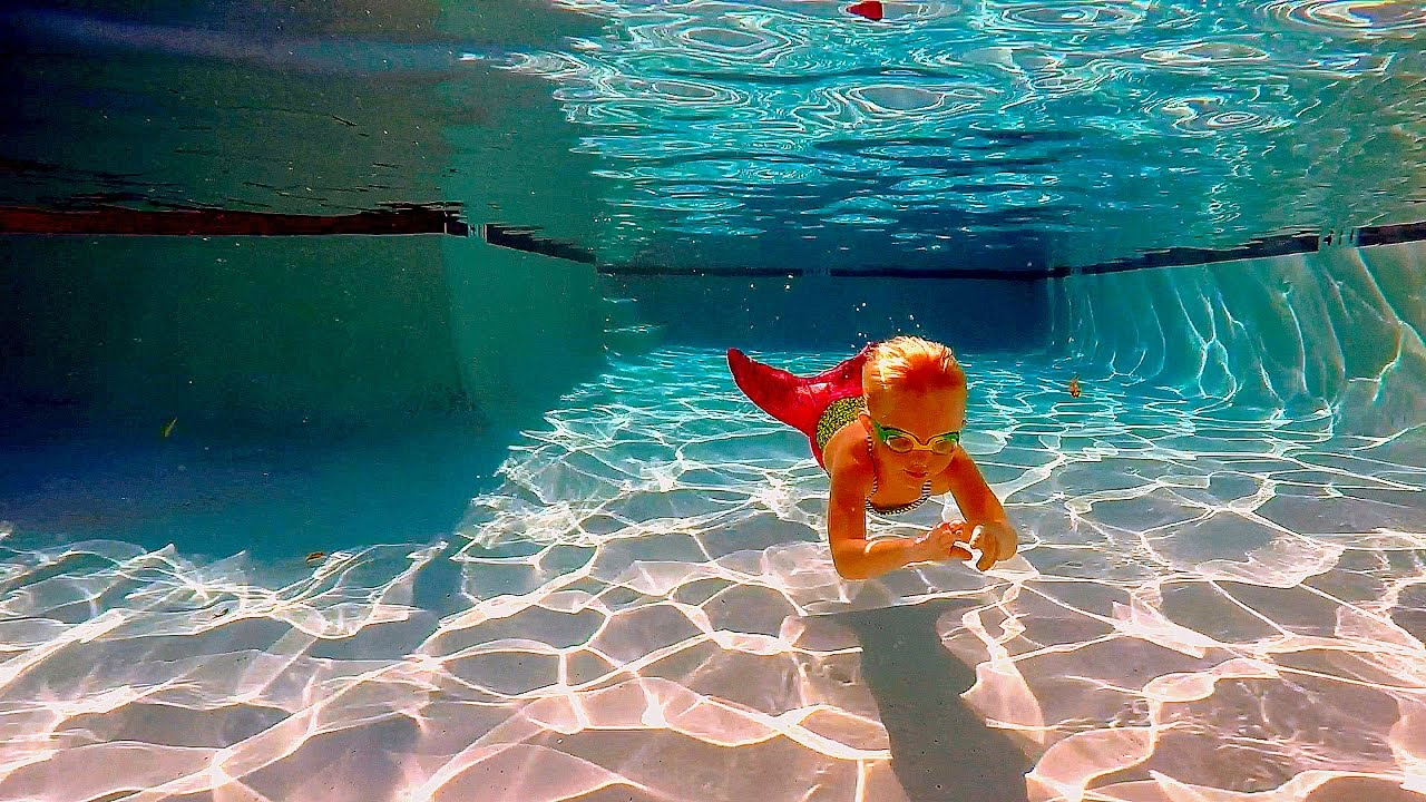 Mermaid Swimming in the pool