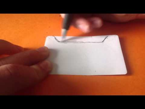 How to make a Paintbrush stripe-off made out of a gift card. DIY project.