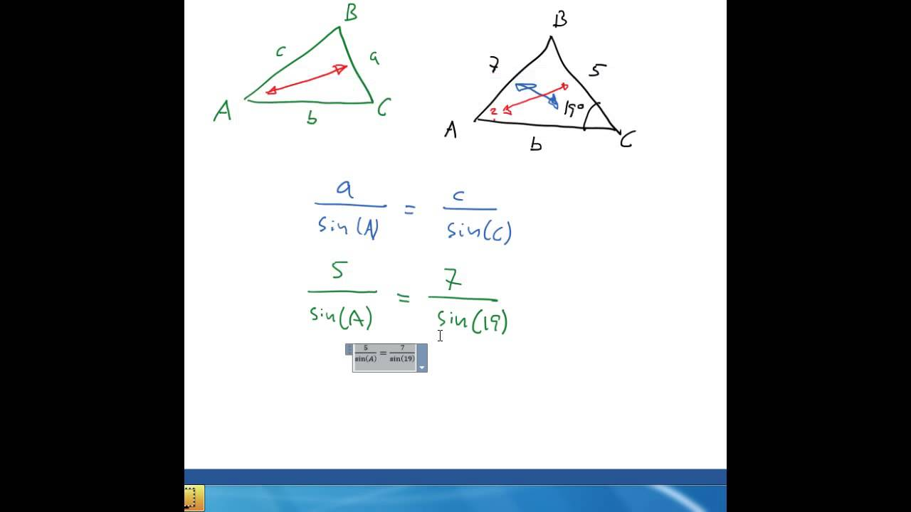 Trigonometri - sinusrelationer