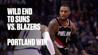 Blazers and Suns Wild Finish with Portland Winning in Phoenix   NBA Highlights
