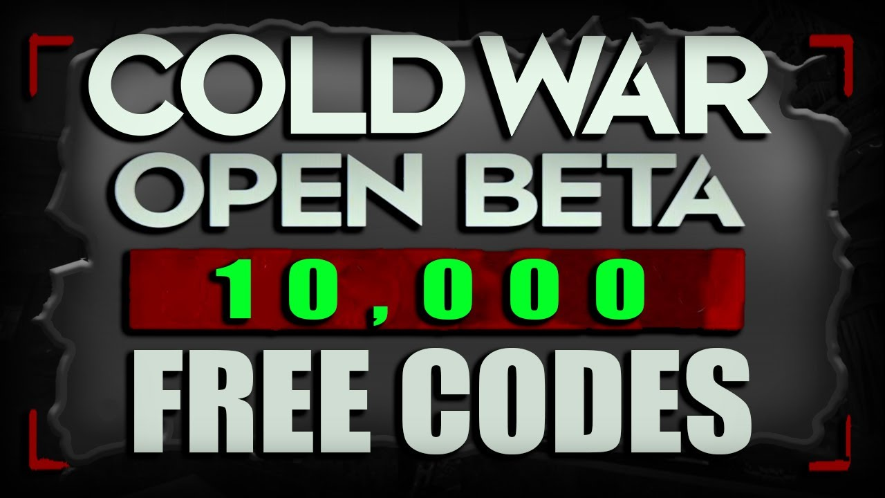 Free Beta Codes 10 000 Free Beta Codes For Black Ops Cold War Multiplayer Beta Youtube
