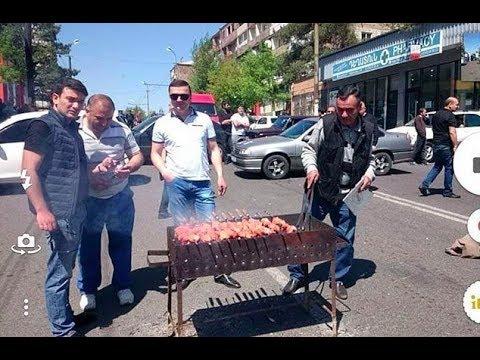 Протест по-армянски: музыка, танцы, шашлыки. Видео из Еревана 2 мая 2018