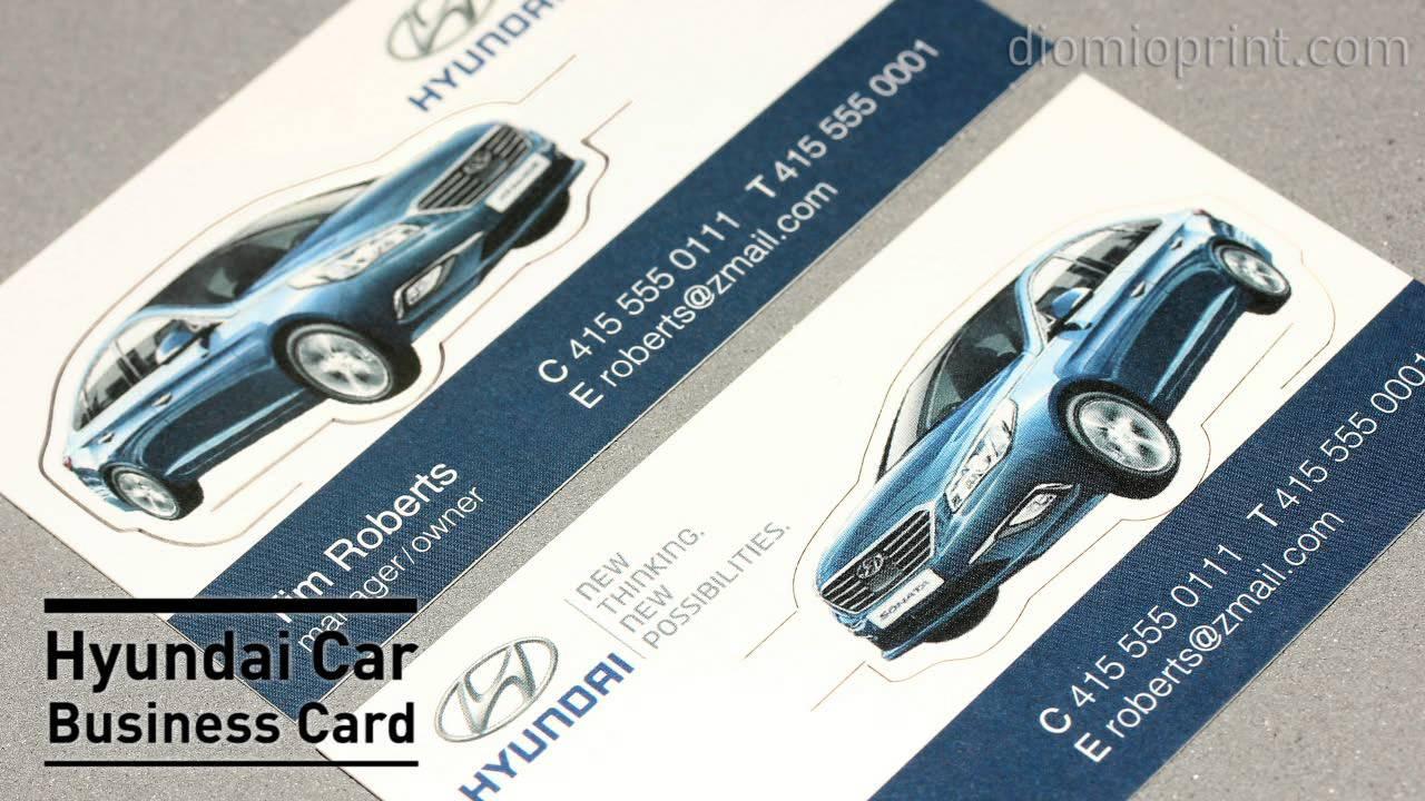 Hyundai car business card youtube colourmoves