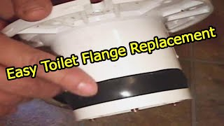 Toilet Flange Install New PVC Repair Flange To old Lead Pipe