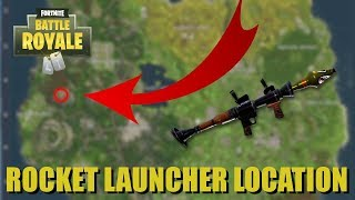 ROCKET LAUNCHER LOCATION! HOW TO GET ROCKET LAUNCHER EVERY TIME in FORTNITE BATTLE ROYALE!