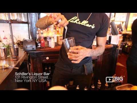 Schiller's Liquor Bar New York for Cocktails and Steaks