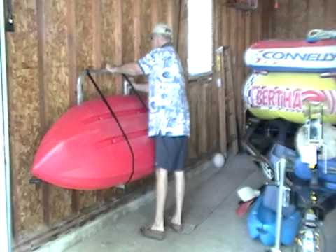 A Wall Mounted Kayak Rack