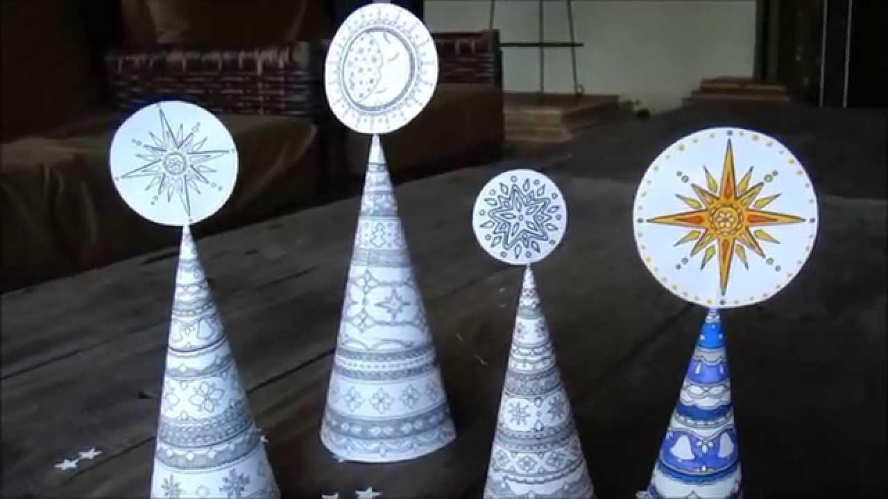 Hattifant's Christmas Tree Cones to Color   Hattifant