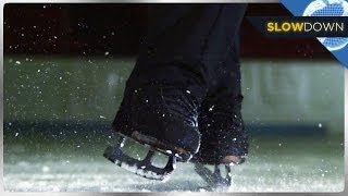 Amazing Ice Skating Tricks IN SLOW MOTION!