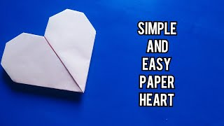 How to Make a Paper Heart WITHOUT GLUE WITHOUT SCISSORS/Fold heart/how to make a paper heart