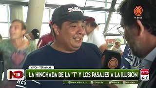 Hinchas de Talleres partieron a San Pablo en colectivo desde Córdoba