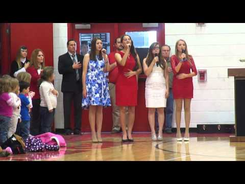 Star Spangled Banner: A capella at Veterans Day 2014