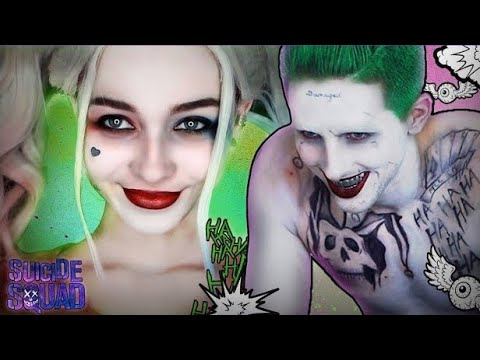 Joker and Harley Quinn Transformation Makeup Tutorial