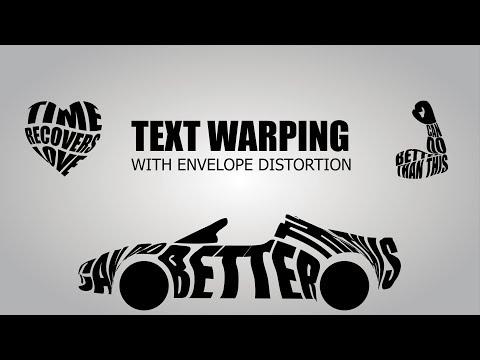 Text Warping with Envelope Distortion Adobe Illustrator | Adobe Codes | Bhavaniprasad Karrotu